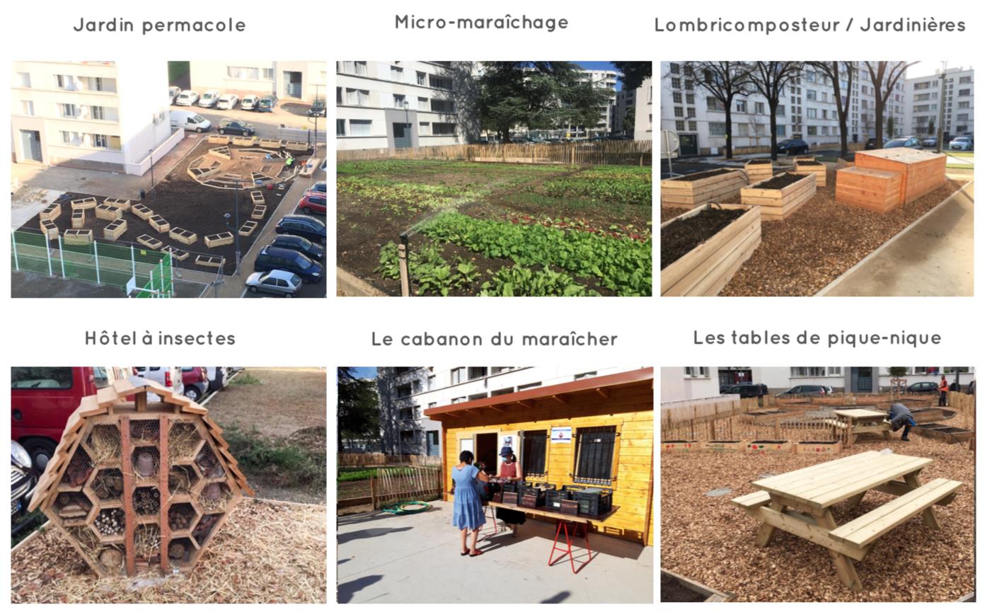 Les espaces de la ferme urbaine